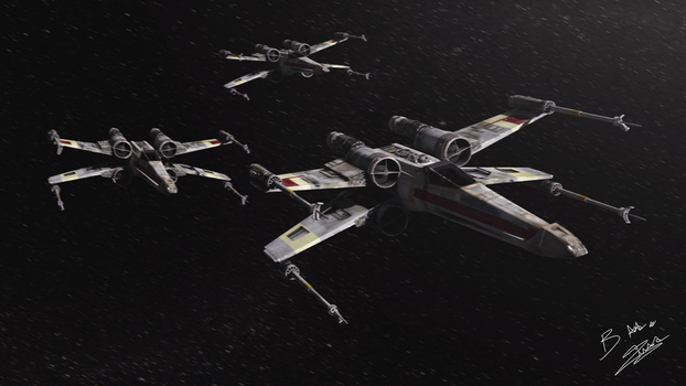 Star Wars X-Wing Fly by AxzlRose