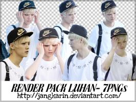 [Render Pack] Luhan EXO at the Airport  - 7 PNGs by jangkarin