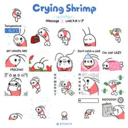 Crying shrimp - winter by pikaole