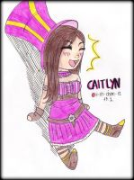 CAITLYN - The Sheriff of Piltover Chibi by ii-ris-chan