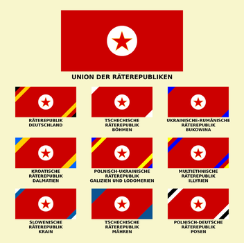 All flags of Union of Council Republics by matritum