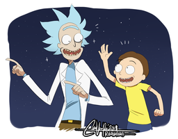 Rick and Morty by RikawawaArt