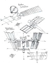 Draw Satellites and ISS by Diana-Huang