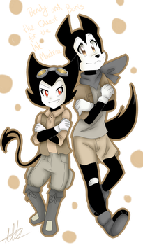 Bendy and Boris ''The Quest for the Ink Machine'' by WaterFox-Studios