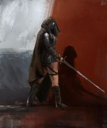 Female Assassin by Hilaz