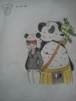 A Girl and her Panda by DinomanInc