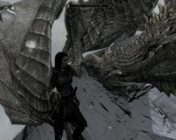 Septima and Paarthurnax (pic 1) by JaneShepard89
