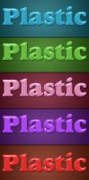 Plastic Layer Style - 6 Colors by Textuts