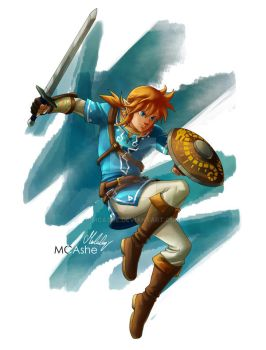 Link -  legend of Zelda Breath of the wild by MCAshe