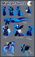 [OLD] Midnight Sketch Refrence sheet by xXNovaNepsXx