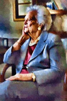 Barbara Bush by peterpicture