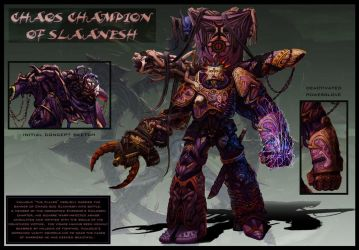 Chaos Champion of Slaanesh by jubjubjedi