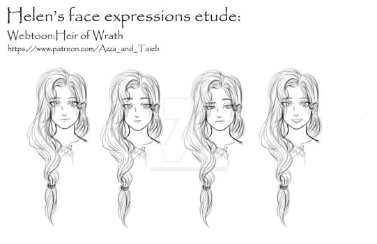 face expression Helen by azza-chaouch
