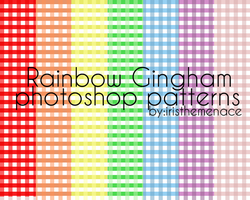 Gingham Rainbow Color PS Pattern by iristhemenace