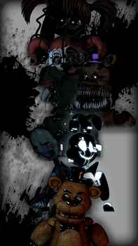 C4D | Five nights at freddys (Remake #3) by NightmareBlueFoxy