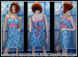 Frog Prince Pin Up Dress by RedheadThePirate