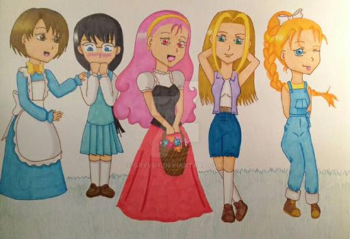 The bachelorettes by Gryvry