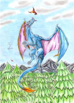AT Into the sky by DrakenAngelus2