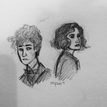 Newt and Porpentina by bonnielass221