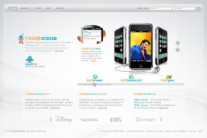 MobileCause - web layout by detrans