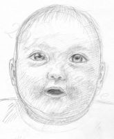 baby (pencil sketch) by Sillageuse