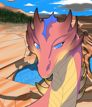 Desert Canyon Dragoness by Dubrother