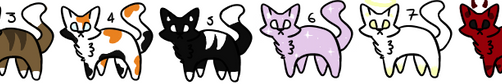 3 point cat adopts (CLOSED!) by Cupid-Heart