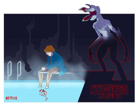 Barb at the Pool | Stranger Things by putzna