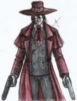 Alucard sketch by RodWolf