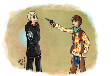 [Request] The Master vs. Cowboy Adric by TardisGhost