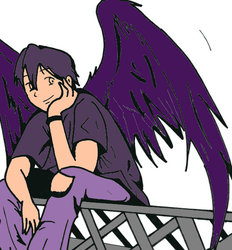 Purple Angel Boy for RoseandherThorns ONLY by wADr5535