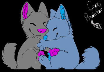 birthday hug lineart by StarLiveta24