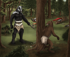 The Encounter - Commission by KeksWolf