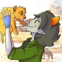 Nepeta and Simba by PuddingOfDeath