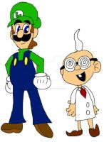 The Professor and the Plumber by MamaLuigi1214