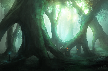 ancient forest by llRobinll
