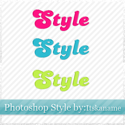 Photoshop candy style by itskaname