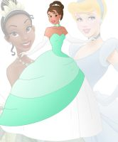 disney fusion: Cinderella and Tiana by Willemijn1991