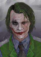 Heath Ledger -The Joker by Inga2000