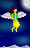 Maggie (With Wings) as a human by The-Eevee-Club