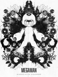Megaman Nintendo Geek Psychological Ink Blot by studiomuku