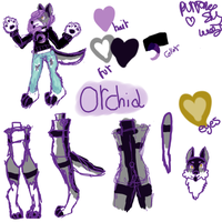 fursona-orchid ref by OrchidCrystal