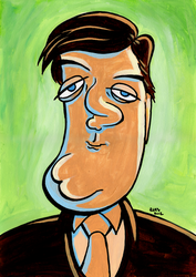 Stephen Fry Caricature by ryanneal
