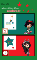 Advent Days, 1-2 for Christmas 2017 by Obeliskgirljohanny
