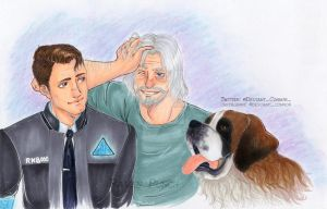Connor and Hank - Detroit Become Human (Color) by Raven-Punch