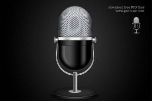 Microphone Icon (PSD) by psdblast