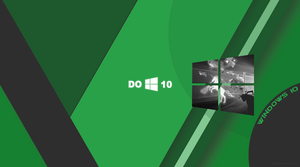 Windows 10 Wallpaper Material Green by zhalovejun