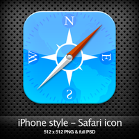 iPhone style - Safari icon by YaroManzarek