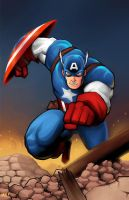 Captain America by MasonEasley