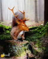 Antlered Squirrel by Pissenlit00